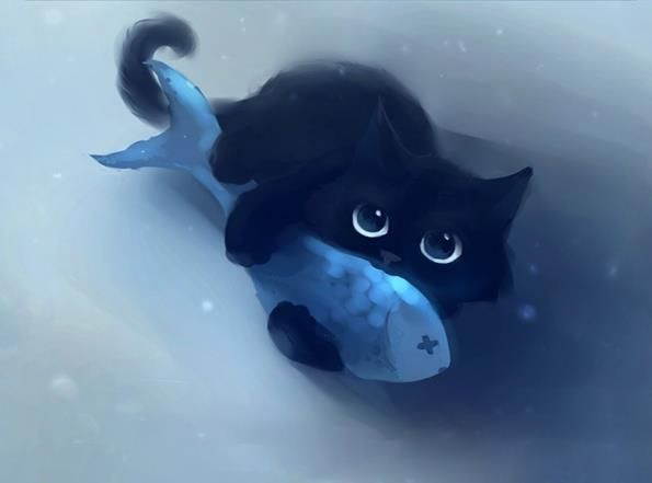 Аквариумската риба и мачки живеат заедно?