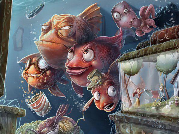 Аквариум почистващи и подредени: риби, скариди, охлюви