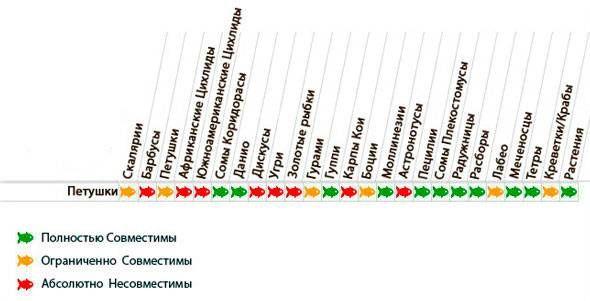 Таблиця сумісності півників