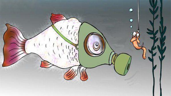 Рибка в протигазі